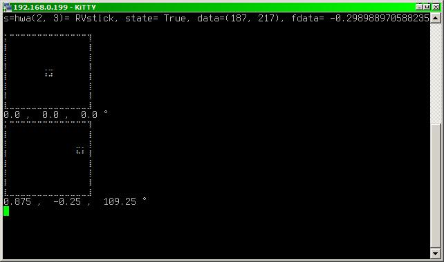 Python + Gamepad = CLI grabber + drawille = CLI stick